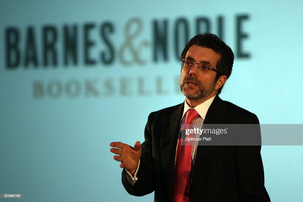 Steve Riggio Chief Executive Officer of Barnes and Noble Inc speaks at the launching of the new 'nook' digital reading device on October 20 2009 in...
