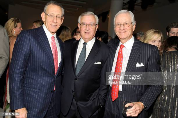 Steve Ross Roy Zuckerberg and Jeff Lane attend 2010 GUGGENHEIM International Gala at Solomon R Guggenheim Museum on November 8 2010 in New York City