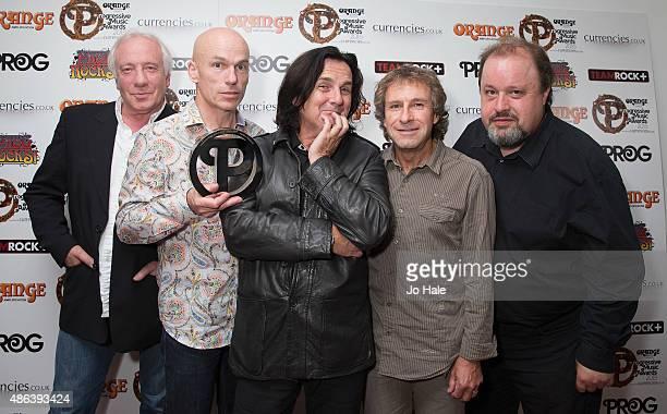 Steve Rothery Mark Kelly Steve Hogarth Pet Trewavas and Ian Mosley of Marillion win Live Event Award at the Progressive Music Awards at Underglobe on...