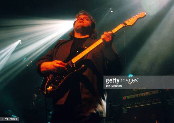 Steve Rothery of Marillion performing on stage at Shepherds Bush Empire London 12 May 1997