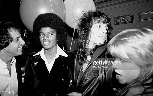 Steve Rubell Michael Jackson Steven Tyler of Aerosmith and Cherrie Currie at the Studio 54 in New York City New York