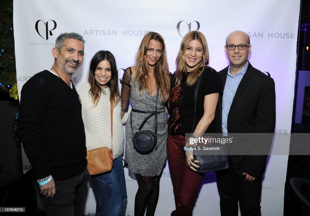 Steve Russo, Ally Hilfiger, Charlotte Ronson, Dani Stahl and Aaron Nir attend Charlotte Ronson + Artisan House Host Spring/Summer 2013 Handbag Preview on December 6, 2012 in New York City.