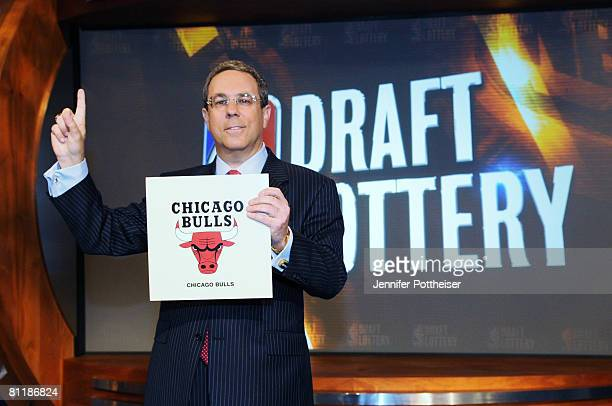 Steve Schanwald Executive Vice President of Baketball Operations of the Chicago Bulls poses for a photo during the 2008 NBA Draft Lottery at the...