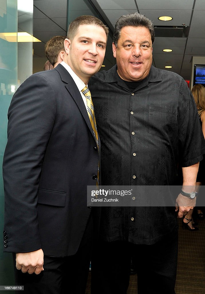 Steve Schirippa(R) attends the 2013 Commissions For Charity Day at BTIG on May 14, 2013 in New York City.