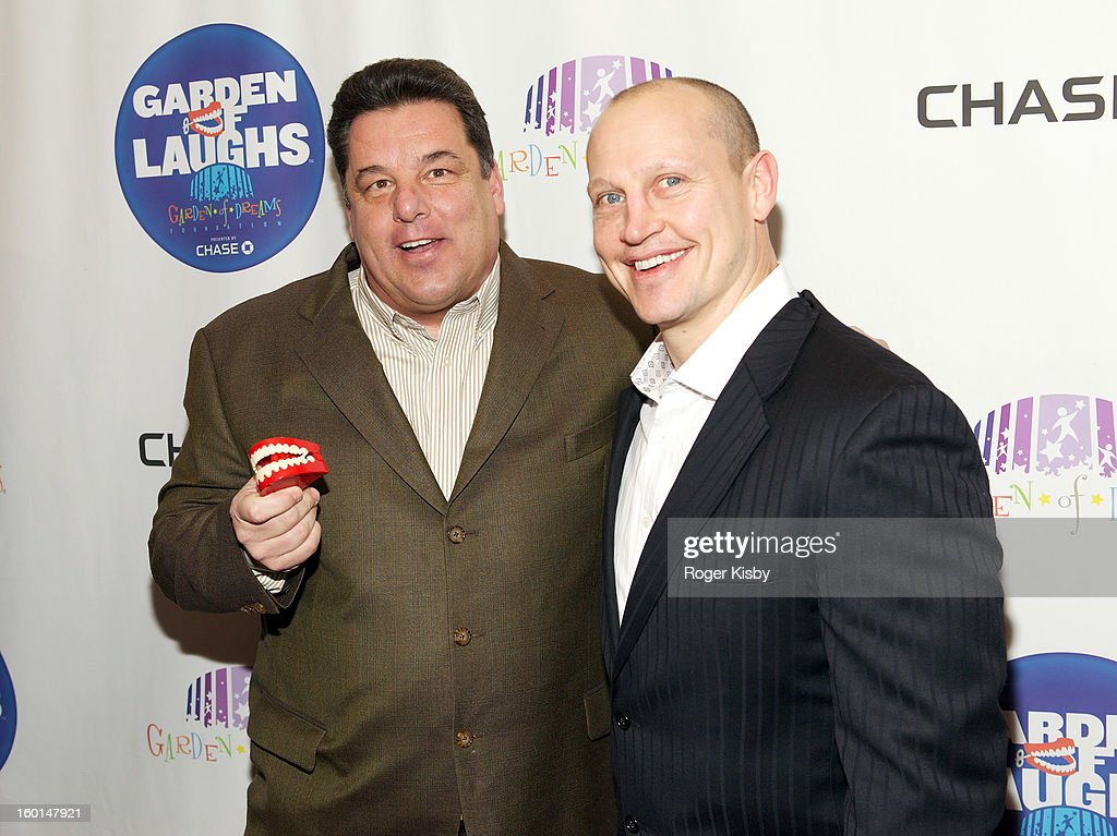<a gi-track='captionPersonalityLinkClicked' href=/galleries/search?phrase=Steve+Schirripa&family=editorial&specificpeople=213388 ng-click='$event.stopPropagation()'>Steve Schirripa</a> and <a gi-track='captionPersonalityLinkClicked' href=/galleries/search?phrase=Adam+Graves&family=editorial&specificpeople=216404 ng-click='$event.stopPropagation()'>Adam Graves</a> attend 'Garden Of Laughs' benefit at Madison Square Garden on January 26, 2013 in New York City.