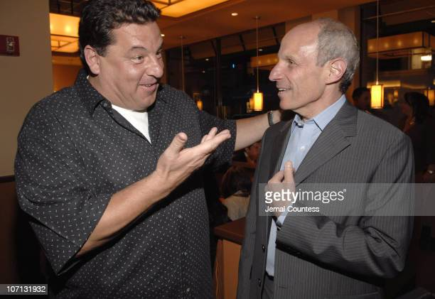 Steve Schirripa and Jonathan Tisch during California Pizza Kitchen opens on Park Ave South in New York City May 14 2007 at California Pizza Kitchen...