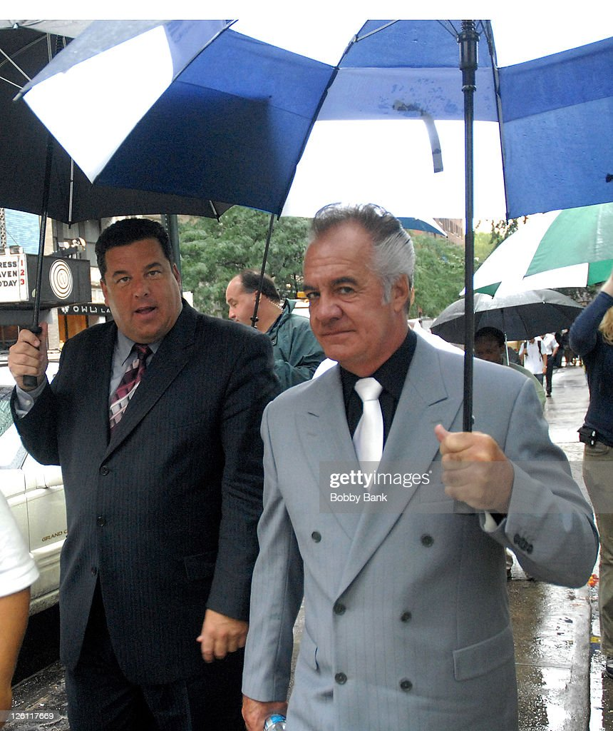 Steve Schirripa and Tony Sirico on location for 'A Muppets Christmas: Letters to Santa' - on September 9, 2008 in New York City.
