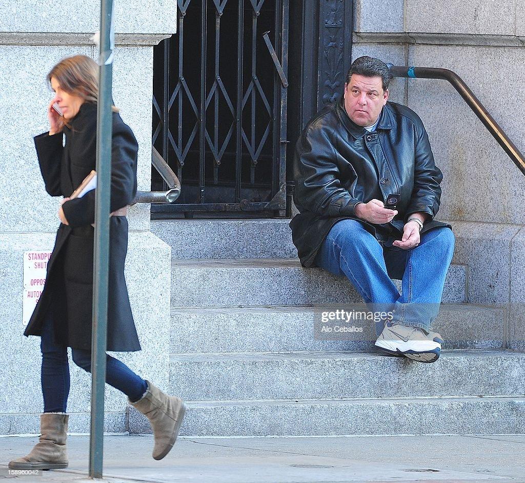 Steve Schirripa is seen in Soho on January 4, 2013 in New York City.