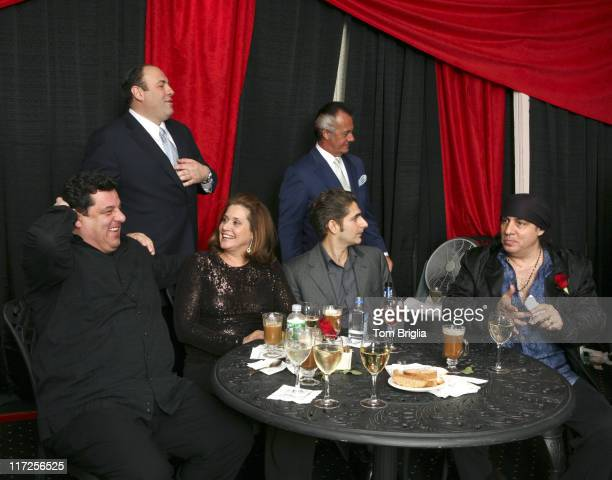 Steve Schirripa James Gandolfini Lorraine Bracco Michael Imperioli Tony Sirico and Steven Van Zandt
