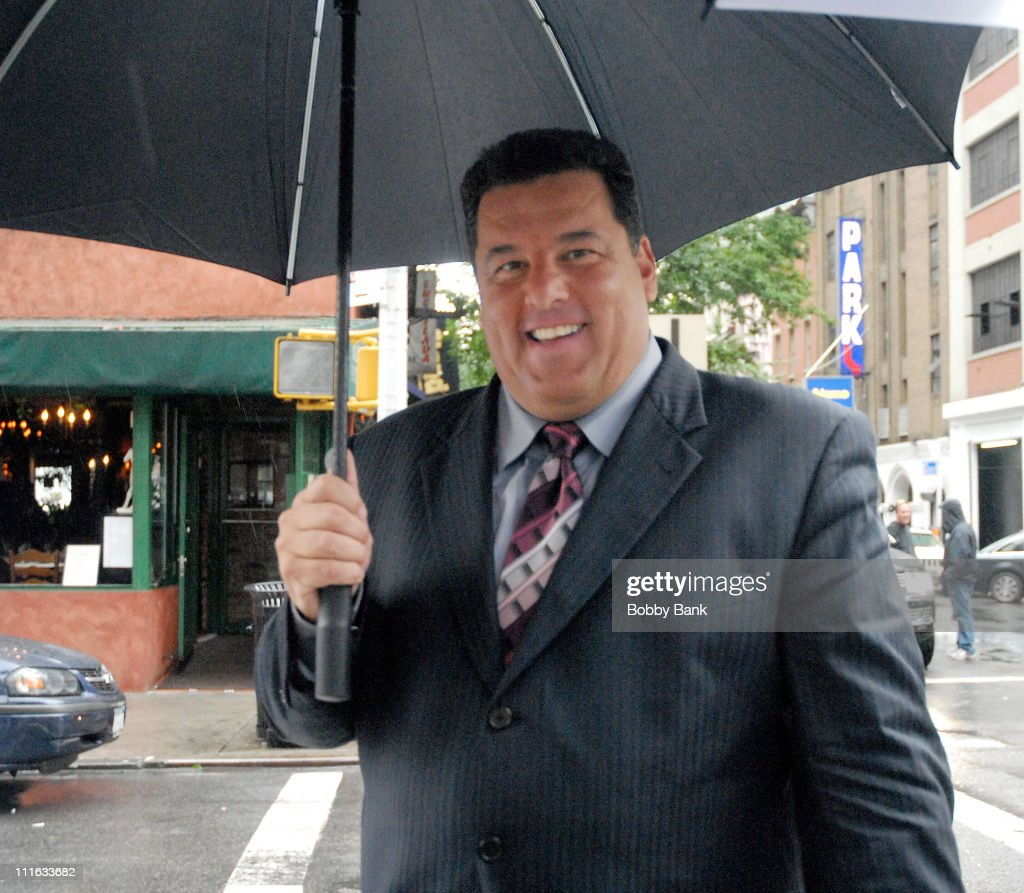 Steve Schirripa on location for 'A Muppets Christmas: Letters to Santa' - on September 9, 2008 in New York City.