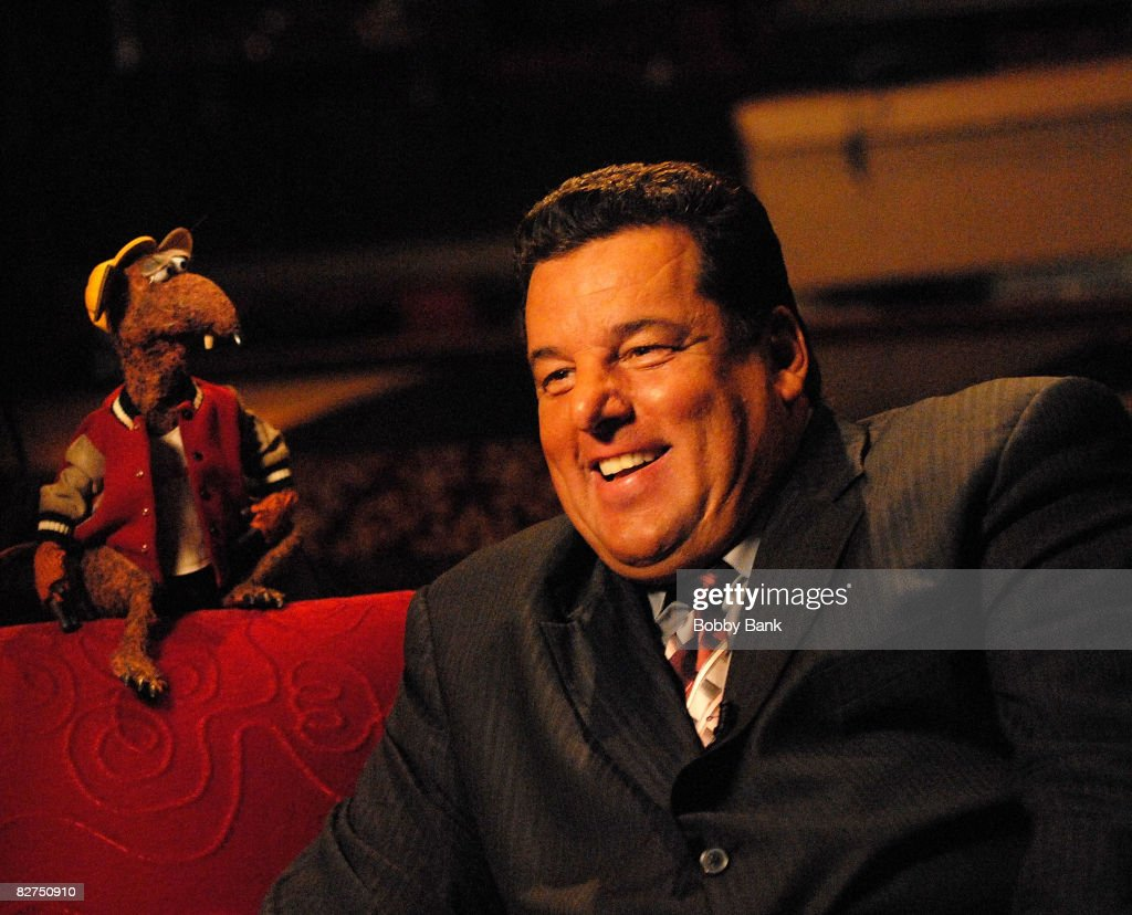 Steve Schirripa on location for 'A Muppets Christmas: Letters to Santa' on September 9, 2008 in New York City.