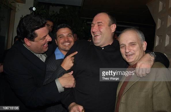 Steve Schirripa Richard Botto Razor Magazine publisher James Gandolfini and David Chase 'The Sopranos' creator/executive producer