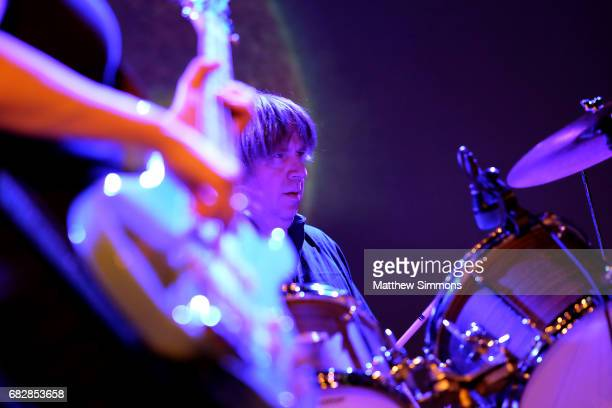 Steve Shelley perform onstage with Thurston Moore at Teragram Ballroom on May 13 2017 in Los Angeles California