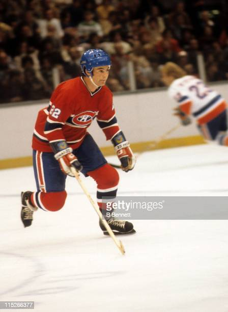 Steve Shutt of the Montreal Canadiens skates on the ice during an NHL game against the New York Islanders on October 17 1978 at the Nassau Coliseum...