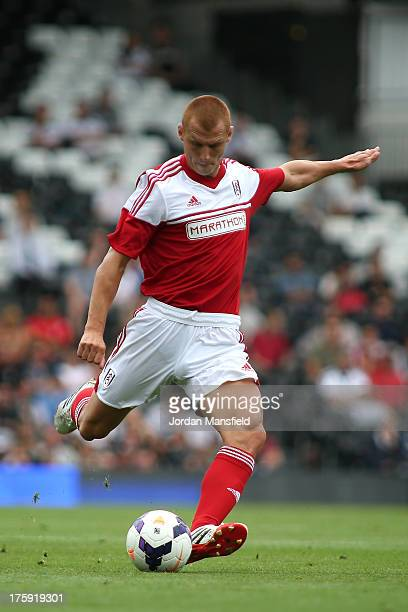 Steve Sidwell of Fulham scores to make it 10 during the preseason friendly match between Fulham and Parma FC at Craven Cottage on August 10 2013 in...