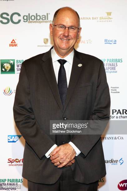 Steve Simon WTA CEO and Chairman arrives for the Official Draw Ceremony and Gala of the BNP Paribas WTA Finals Singapore presented by SC Global at...