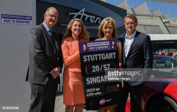 Steve Simon WTA CEO and Chairman Melissa Pine WTA Finals Tournament Director and VP WTA Asia Pacific Micky Lawler WTA President and Detlev von Platen...