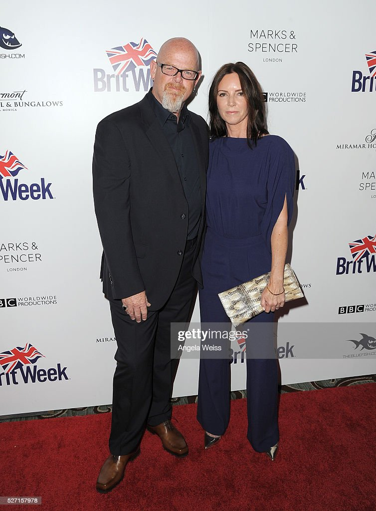 Steve Sims (L) attends BritWeek's 10th Anniversary VIP Reception & Gala at Fairmont Hotel on May 1, 2016 in Los Angeles, California.