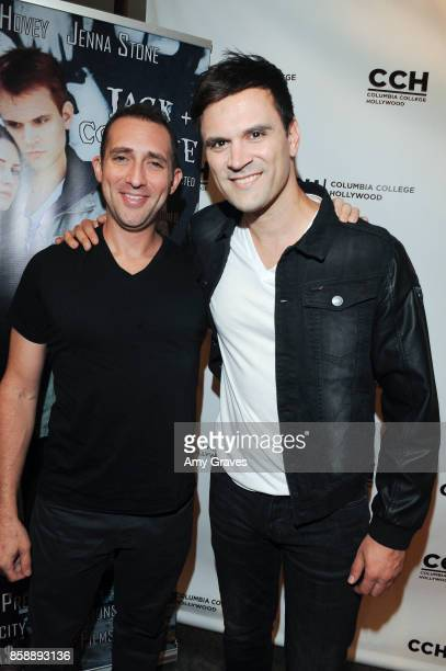 Steve Sirkis and Kash Hovey attend the 'Jack And Cocaine' Screening At The Valley Film Festival at Columbia College Hollywood on October 7 2017 in...