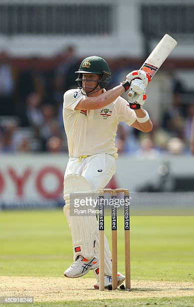 Steve Smith of Australia bats during day one of the 2nd Investec Ashes Test match between England and Australia at Lord's Cricket Ground on July 16...