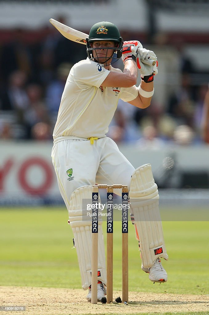Steve Smith of Australia bats during day one of the 2nd Investec Ashes Test match between England and Australia at Lord's Cricket Ground on July 16, 2015 in London, United Kingdom.