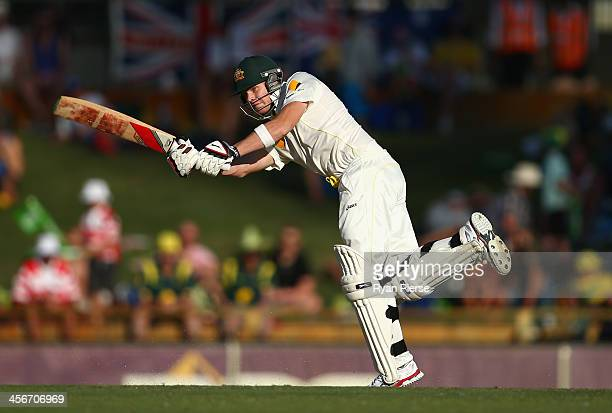 Steve Smith of Australia bats during day three of the Third Ashes Test Match between Australia and England at WACA on December 15 2013 in Perth...