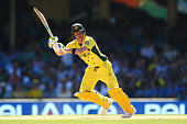 Steve Smith of Australia bats during the 2015 Cricket World Cup Semi Final match between Australia and India at Sydney Cricket Ground on March 26...