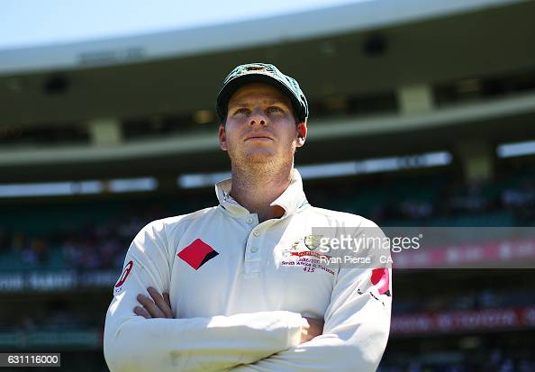 Steve Smith of Australia looks on after day five of the Third Test match between Australia and Pakistan at Sydney Cricket Ground on January 7 2017 in...