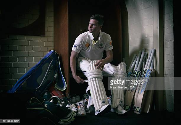 Steve Smith of Australia poses during a portrait session at Sydney Cricket Ground on January 5 2015 in Sydney Australia