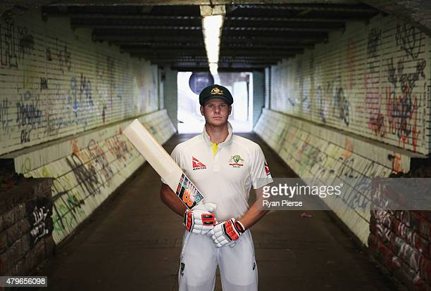 Steve Smith of Australia poses during a portriat session at Cardiff Castle on July 6 2015 in Cardiff Wales