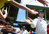 Steve Smith of Australia walks out to field during day five of the third Test match between Australia and the West Indies at Sydney Cricket Ground on...