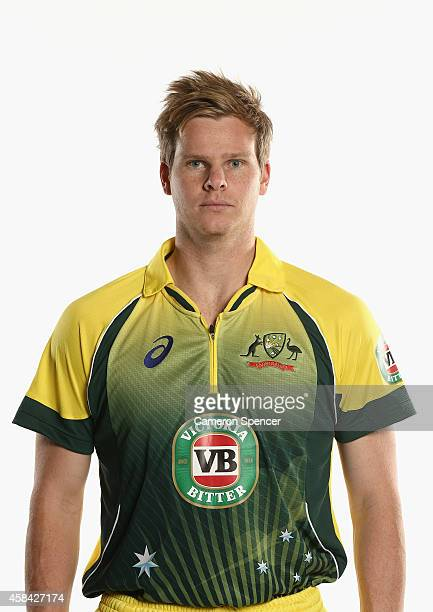 Steve Smith poses during the Cricket Australia ODI headshots session at the Intercontinental Hotel on August 11 2014 in Sydney Australia