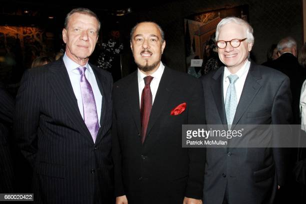 Steve Soltis Marc Rosen and Ted Francavilla attend Lighthouse International POSH Preview Benefit Dinner at Doubles Club on May 12 2009 in New York...
