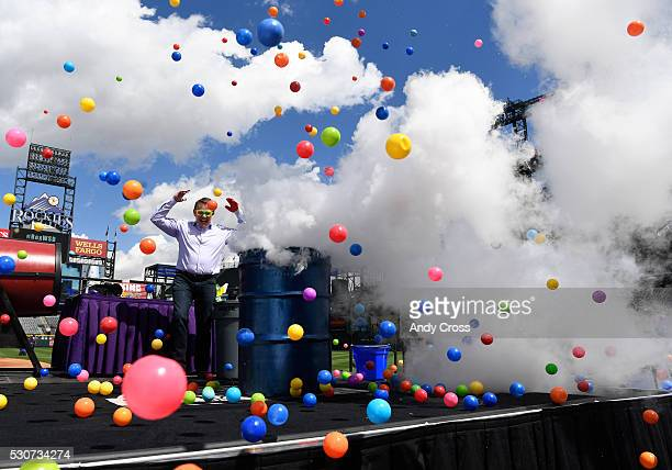 Steve Spangler Steve Spangler Science sends plastic balls up in the air by mixing cool liquid nitrogen with hot water during the annual Weather and...