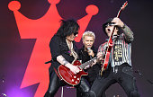 Steve Stevens Billy Idol and Billy Morrison perform during the Pemberton Music Festival on July 16 2016 in Pemberton Canada