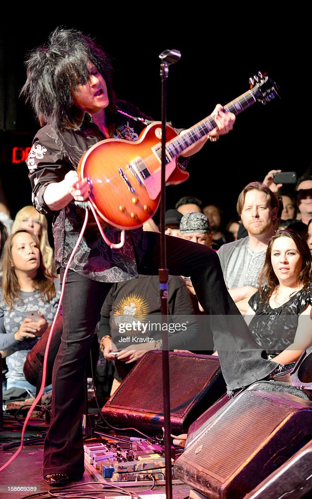 Steve Stevens performs at Camp Freddy Holiday Residency at The Roxy Theatre on December 22, 2012 in West Hollywood, California.