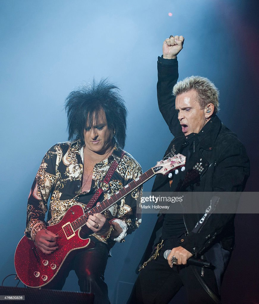 Steve Stevenson and Billy Idol Performing at IOW Festival at Seaclose Park on June 11 2015 in Newport United Kingdom