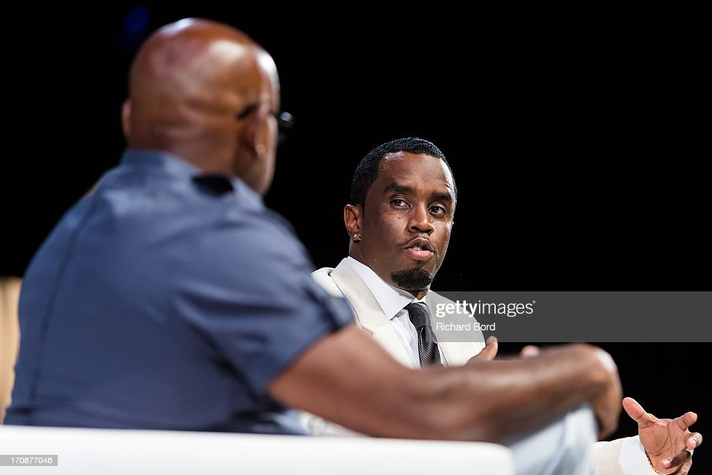 Steve Stoute and Sean 'Diddy' Combs speak during the 'Culture as a Creative Catalyst' Seminar at the Palais des Festivals during the 60th Cannes Lions International Festival of Creativity on June 19, 2013 in Cannes, France.