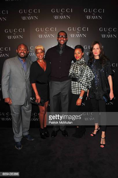 Steve Stoute Mary J Blige LeBron James Savannah Brinson and Daniella Vitale attend GUCCI Cocktail Party for FFAWN at Gucci on 5th Avenue on September...