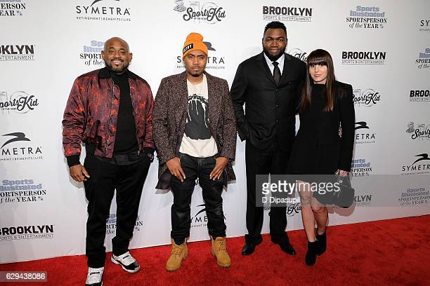 Steve Stoute Nas David Ortiz and wife Tiffany Ortiz attend the 2016 Sports Illustrated Sportsperson of the Year at Barclays Center of Brooklyn on...