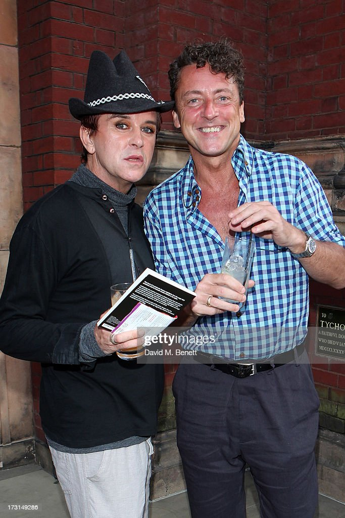 <a gi-track='captionPersonalityLinkClicked' href=/galleries/search?phrase=Steve+Strange&family=editorial&specificpeople=705333 ng-click='$event.stopPropagation()'>Steve Strange</a> and Jeremy Healy attend the Club To Catwalk: London Fashion In The 1980's exhibition at Victoria & Albert Museum on July 8, 2013 in London, England.