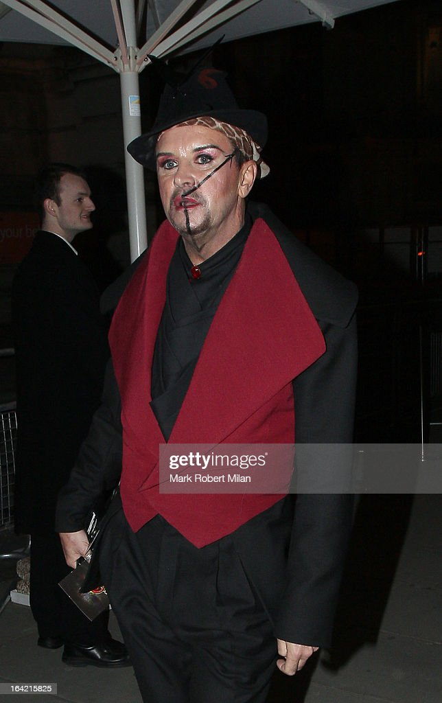 Steve Strange at the private view of 'David Bowie Is' at Victoria & Albert Museum on March 20, 2013 in London, England.