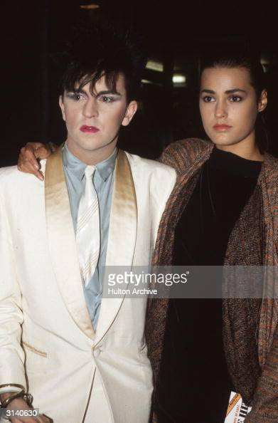 Steve Strange of the new romantic synthpop group Visage with the model Yasmin Le Bon the wife of the Duran Duran lead singer Simon Le Bon