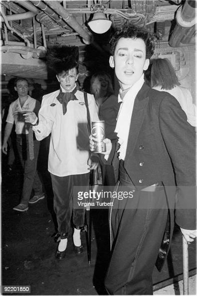 Steve Strange with fellow New Romantics aboard HMS Belfast watch Spandau Ballet perform live on July 26 1980