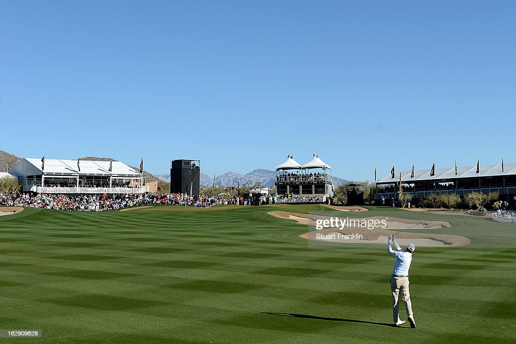 <a gi-track='captionPersonalityLinkClicked' href=/galleries/search?phrase=Steve+Stricker&family=editorial&specificpeople=239196 ng-click='$event.stopPropagation()'>Steve Stricker</a> hits a shot from the fairway on the 13th hole during the quarterfinal round of the World Golf Championships - Accenture Match Play at the Golf Club at Dove Mountain on February 23, 2013 in Marana, Arizona.