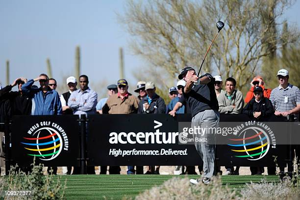 Steve Stricker hits from the seventh tee box during the first round of the World Golf ChampionshipsAccenture Match Play Championship at The...