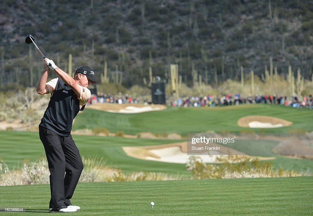 Steve Stricker of USA plays his tee shot on the 15th hole during the second round of the World Golf Championships - Accenture Match Play at the Golf Club at Dove Mountain on February 22, 2013 in Marana, Arizona.