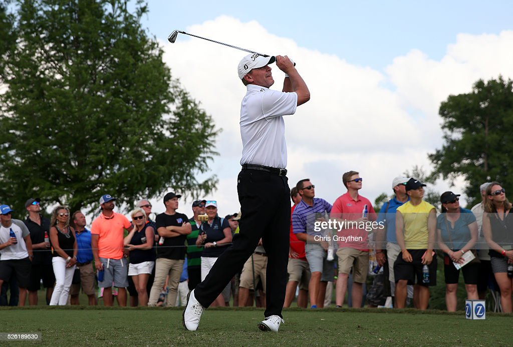 <a gi-track='captionPersonalityLinkClicked' href=/galleries/search?phrase=Steve+Stricker&family=editorial&specificpeople=239196 ng-click='$event.stopPropagation()'>Steve Stricker</a> tees off on the third hole during the second round of the Zurich Classic of New Orleans at TPC Louisiana on April 29, 2016 in Avondale, Louisiana.