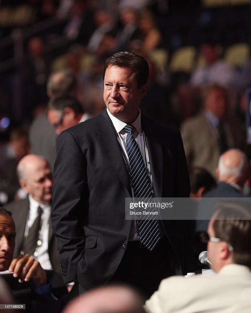 Steve Tambellini of the Edmonton Oilers attends day two of the 2012 NHL Entry Draft at Consol Energy Center on June 23, 2012 in Pittsburgh, Pennsylvania.