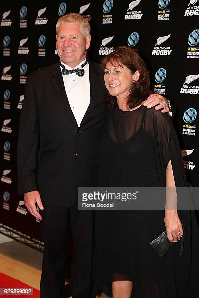Steve Tew and his wife Michele Wilson attend the ASB Rugby Awards at SkyCity Convention Centre on December 15 2016 in Auckland New Zealand